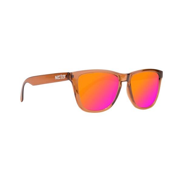 Drift Polarized Sunglasses Brown Lens Sunburst Frame