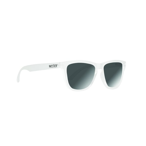 Jiggy Sunglasses Clear White Frame Black Lens