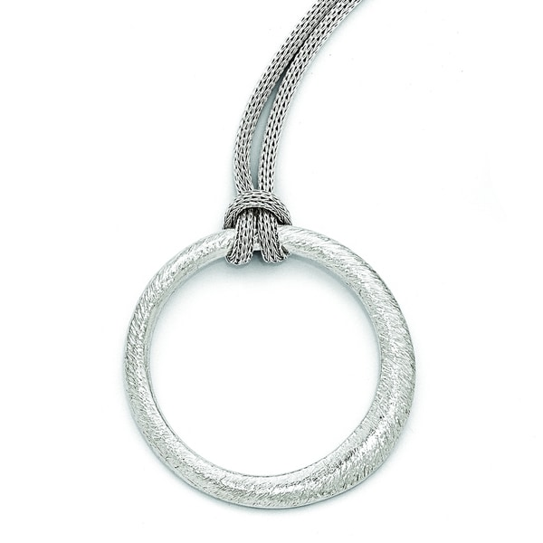 Versil Sterling Silver Textured Necklace
