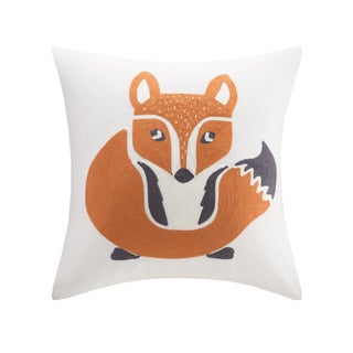 Ink+Ivy Kids Foxy Cotton 16x16 Square Throw Pillow