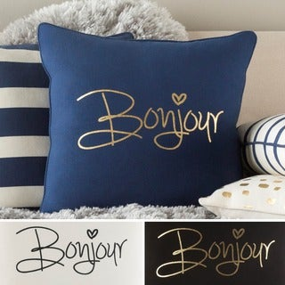 Decorative 18-inch Hana Down or Polyester Filled Throw Pillow