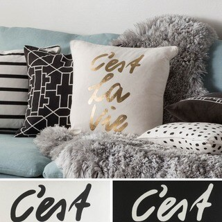 Decorative 18-inch High Down or Polyester Filled Throw Pillow
