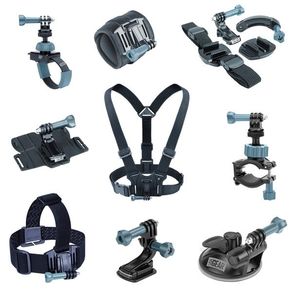 9-in-1 Professional Action Mount Bundle Kit by USA Gear 17941183