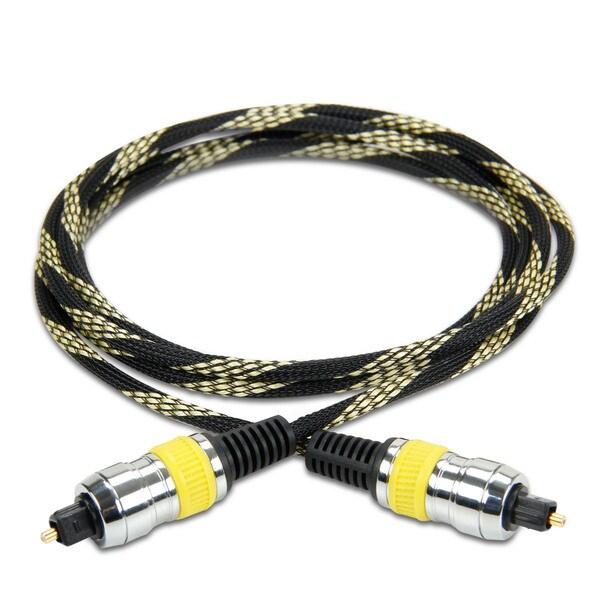 DATASTREAM Digital Audio Optical TOSLink Cable (6') w/ High Fidelity Digital Audio Transfer 17941191