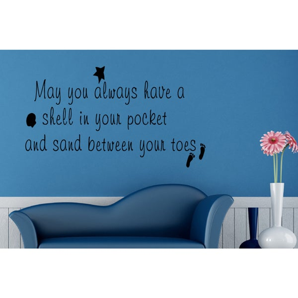 Sand Between Your Toes quote Wall Art Sticker Decal