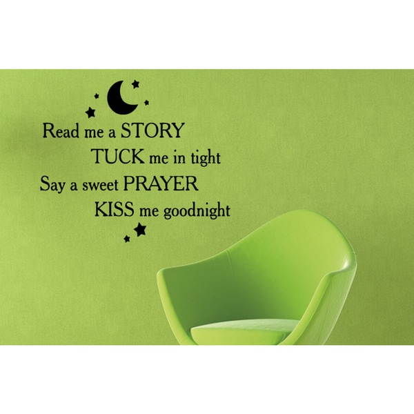 Read Me a Story quote Wall Art Sticker Decal