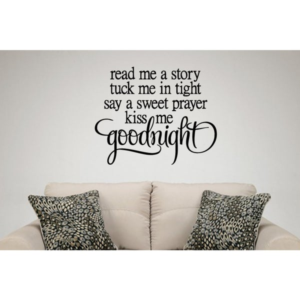 The words Read Me a Story Wall Art Sticker Decal