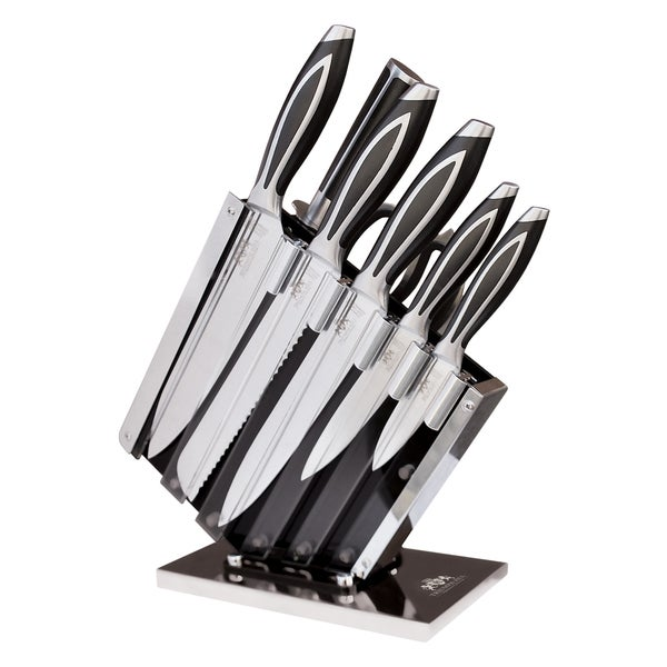9 PC Elite Cutlery Knife Set With Knife Stand & Magnetic Bar