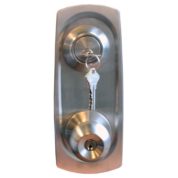 Chronos Combo Entry and Single Cylinder Deadbolt with Security Plates