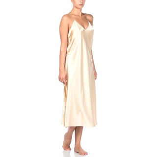 Long Papaya Nightgown G String Set with Lace Detail