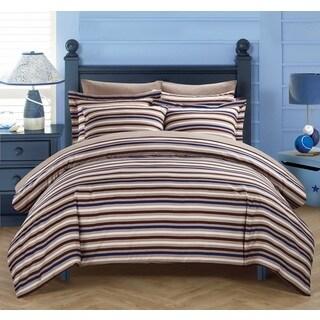 Chic Home Vasler Brown 3-Piece Duvet Cover Set