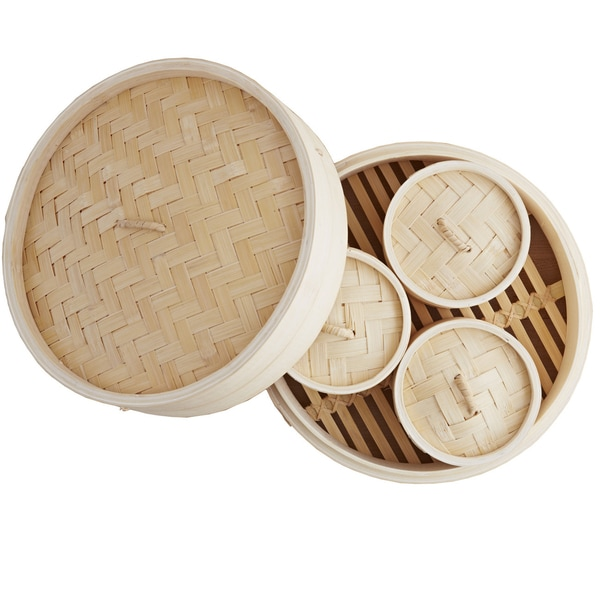 IMUSA Global Kitchen GKG-61004 4 Piece Dim Sum Set with Booklet