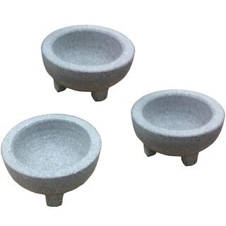 IMUSA Global Kitchen GKA-61020 3 Piece Mini Granite Molcajete Guacamole Set