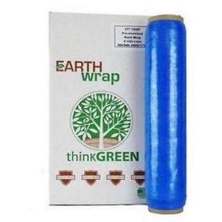 Hand Wrap 16 In 1500 8.5 Mic Blue Pre-Stretch Wrap Shrink Film Banding 128 Rolls