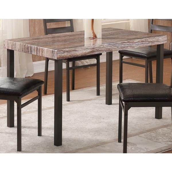 Oak Finish Top Dining Table