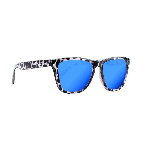 Mahalo Sunglasses Black Tortoise Frame Blue Lens