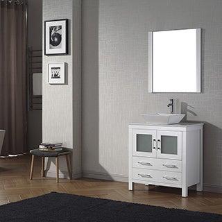 Virtu USA Dior 36-inch Stone Top Single Bathroom Vanity Set with Faucet