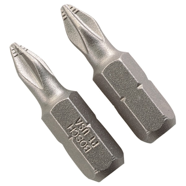"Bosch P1102 1"" #1 Phillips Insert Bits 2-count"