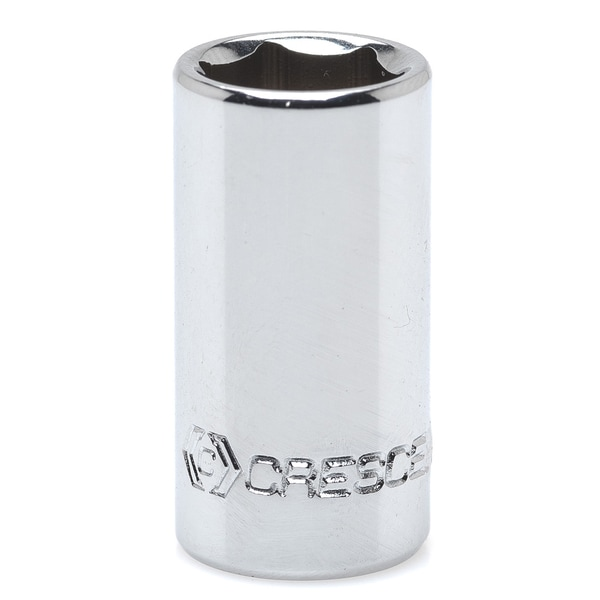 "Crescent CDS17 1/4"" Drive 10mm 6 Pt Chrome Metric Socket"