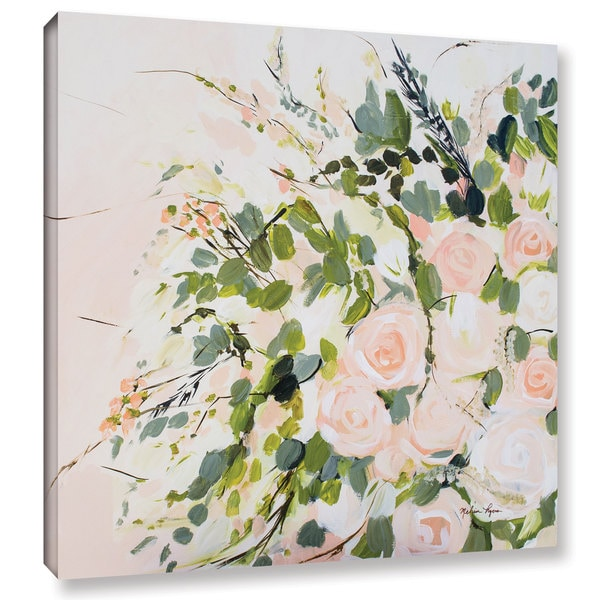 Melissa Lyons's 'Peachy Floral' Gallery Wrapped Canvas