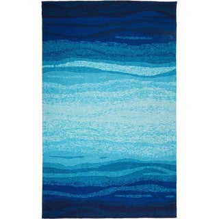 Hand-tufted Chinese Vista Blue/Turquoise Rug (8' x 10')