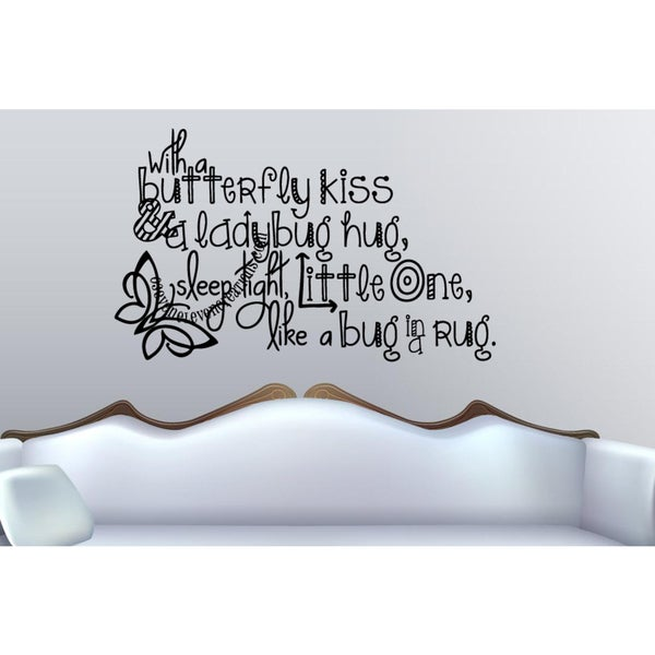 Sleep Tight Little One quote Wall Art Sticker Decal