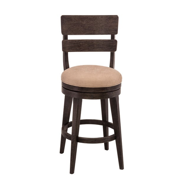 LeClair Black and Cream Upholstered Bar Stool