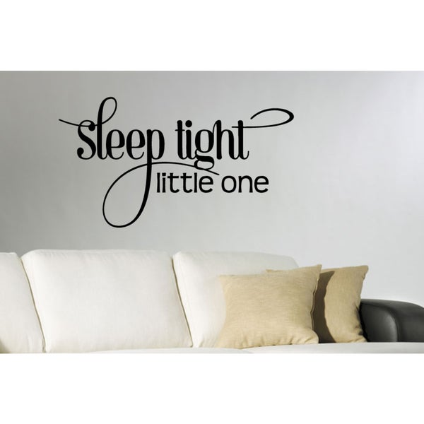 Inscription Sleep Tight Little One Wall Art Sticker Decal