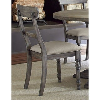 Muses Weathered Grey Ladderback Dining Chair (Set of 2)