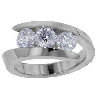 14k/18k White Gold 1ct TDW 3-stone Brilliant-cut Diamond Ring (G-H, SI1-SI2)