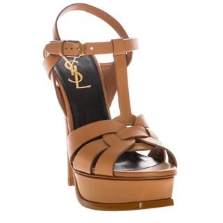 Saint Laurent Tribute Patent Leather Sandals