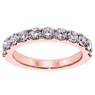 14k/18k Rose Gold 1ct TDW Split Prong Diamond Anniversary Wedding Ring (G-H, SI1-SI2)