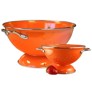 Reston Lloyd Colander Set with 1 and 3-quart in Orange