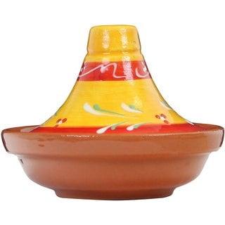 Reston Lloyd Eurita Terra Cotta Mini Tagine 1/2-cup Sauce Side Dish with Almeria Pattern (Set of 2)