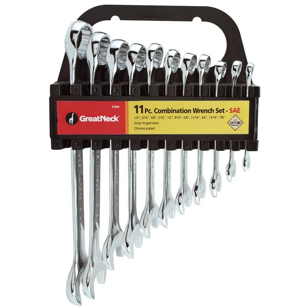 Great Neck 51004 11 Piece Set Standard Combination Wrenches