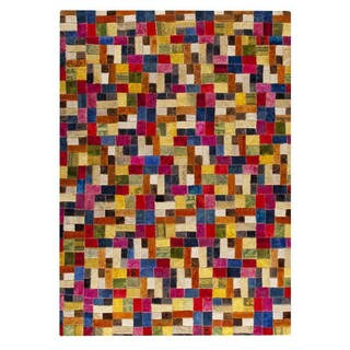 M.A.Trading Hand-tufted Indo Puzzle Multi Rug (7'10 x 9'10)