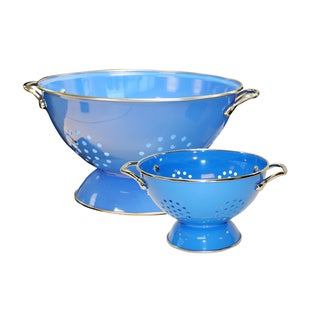 Reston Lloyd Colander Set/ 1.5-quart and 5-quart / Azure