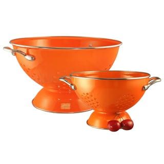 Reston Lloyd Colander Set/ 1.5-quart and 5-quart / Orange