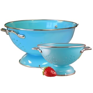 Reston Lloyd Colander Set with 1 and 3-quart in Turquoise