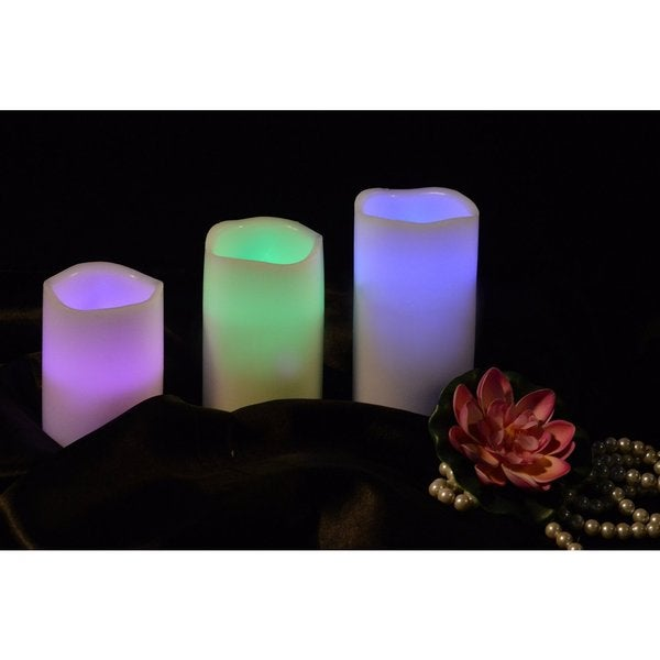 MareLight Remote Control Flameless LED Candles (Pack of 3)