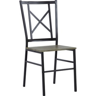 Contemporary Charcoal Metal Dining Chair