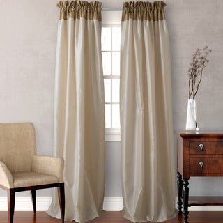 Heritage Landing Colorblock Gold Curtain Panel Set