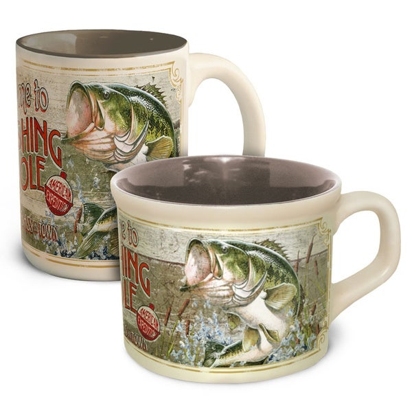 American Expedition Fishing Hole Coffee & Soup Mug Set