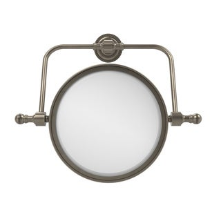 Allied Brass Retro Dot Collection Wall Mounted Swivel Make-Up Mirror 8-inch Diameter with 4X Magnification