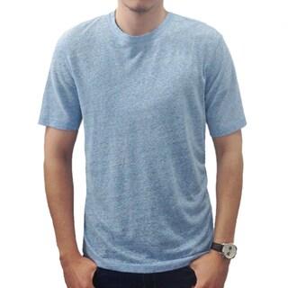 Men's Crewneck Linen Shirt