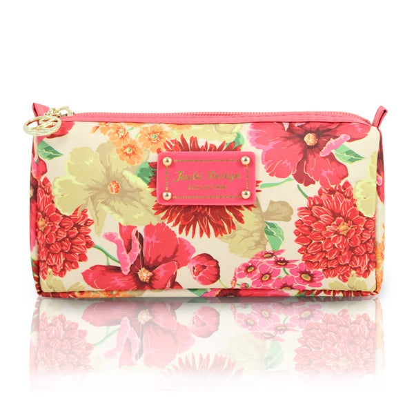 Jacki Design Miss Cherie Floral Zip Top Cosmetic Toiletry Bag