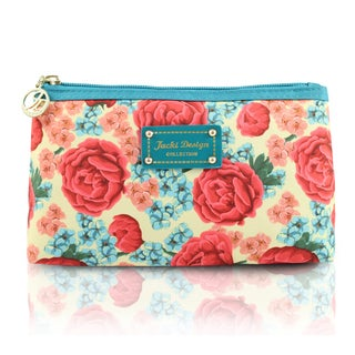 Jacki Design Miss Cherie Large Floral Zip Top Cosmetic Toiletry Bag