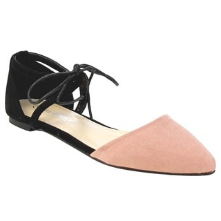 D'Orsay Lace Up Flats