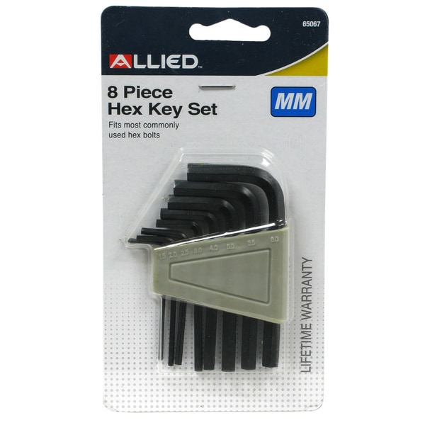 Allied International 65067 Metric Hex Key Set 8 Piece Set