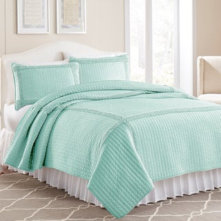 3-piece Frame Square Solid Coverlet Set